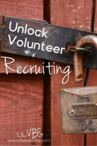 Recruit Volunteers