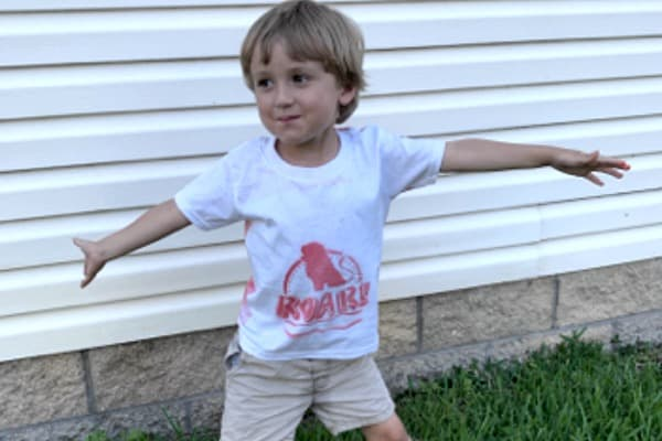 VBS T-Shirt modeled by preschooler